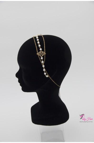 Bijou de tête, Headband chaîne et perles