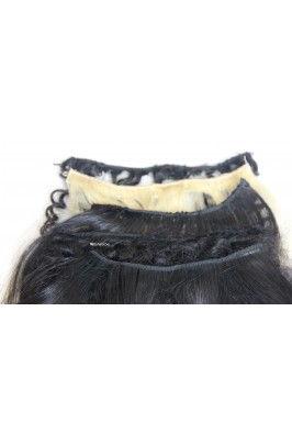 Sample Human hair Straight Black